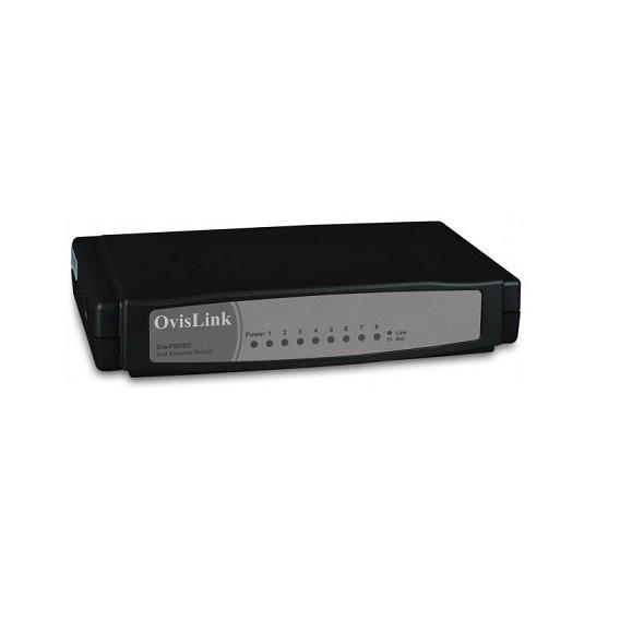 Switch OvisLink Evo-FSH8C de 8 puertos