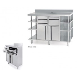 Mueble mesa cafetera inox