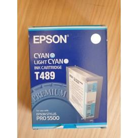 Cartucho de tinta Epson T489 - azul cian claro