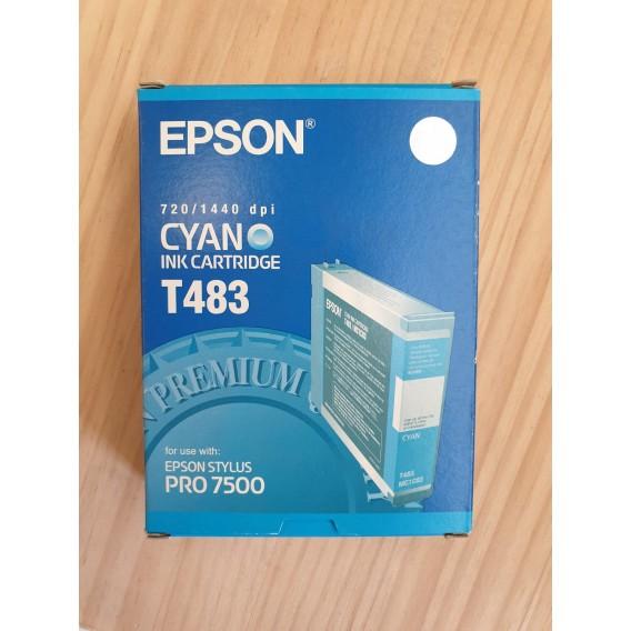 Cartucho de tinta Epson T483 - color cian