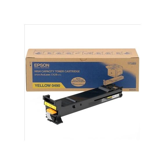 Toner Epson 0490 alta capacidad - amarillo