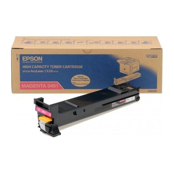 Toner Epson 0491 para Aculaser CX28 series alta capacidad - magenta