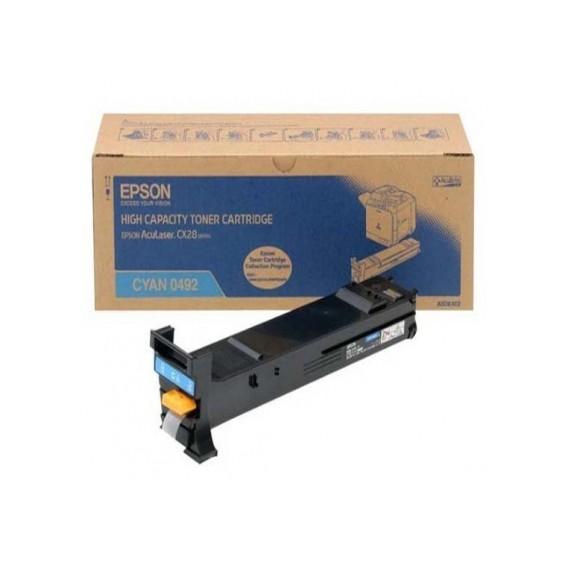 Toner Epson 0492 para Aculaser CX28 series alta capacidad - azul cian