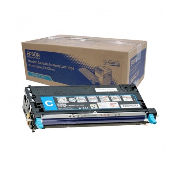 Toner Epson 1130 para Aculaser C3800 series capacidad estándar - azul cian