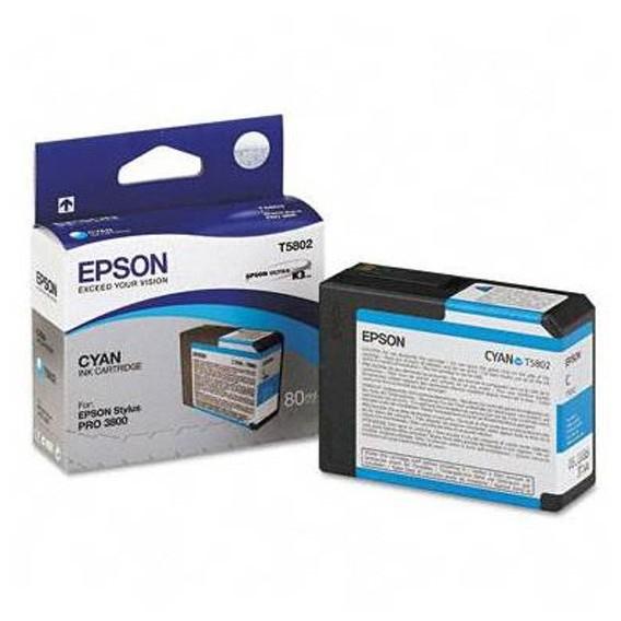 Cartucho de tinta Epson T5802 - azul cian