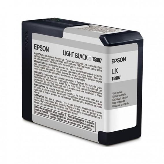 Cartucho de tinta Epson T5807 - negro claro (gris)