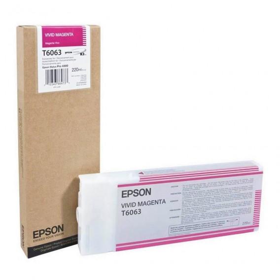 Cartucho de tinta Epson T6063 - magenta vívido