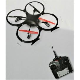 Dron teledirigido de color negro