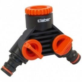 Conector Doble Toma Claber