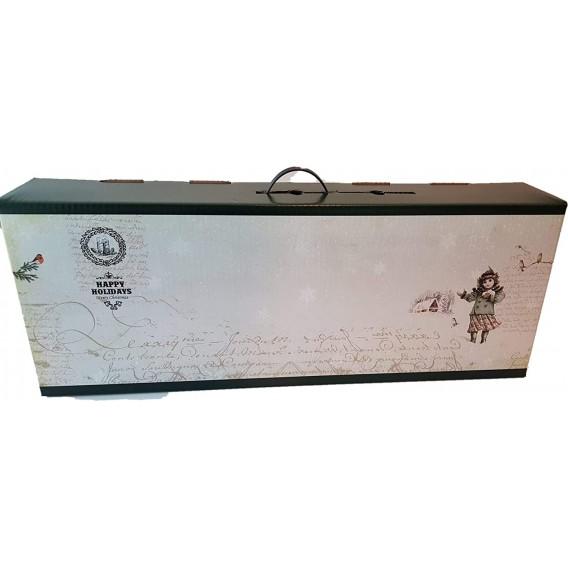 10 Cajas de cartón para paleta de jamón Estilo Navideño