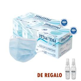Oferta - 2 cajas de 50 Mascarillas Quirúrgicas IIR BFE ≥ 98% + Regalo