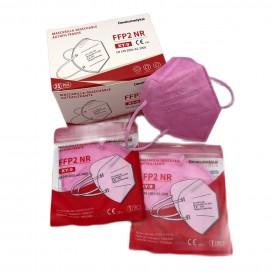Mascarilla FFP2 Rosa 5 capas autofiltrante