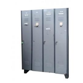 Taquilla de 4 puertas metalica gris