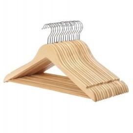Percha de madera para camisas y camisetas